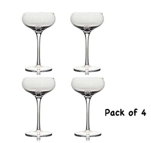 Coupe Cocktail Glass Crystal Set of 4