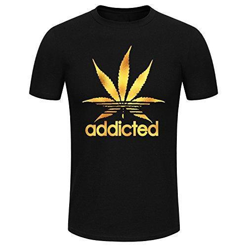 SPGBTees Men's Addicted T-Shirt Black Color XL-Size