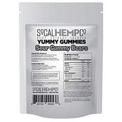 SoCalHempCo – Yummy Gummies – 50mg Hemp Extract Infused Gummy Candy – Sour Gummy Bears – Assorted Flavors
