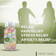 Hemp Gummies - 35ct - 12mg Per Gummy Bear Full Spectrum Organic Hemp Infused - Relaxing, Pain, Stress & Anxiety Relief - Omega 3, 6 & 9. By Dr. Fishman Labs.