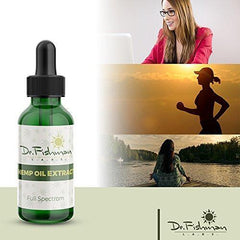 Full Spectrum Hemp Oil - by Dr. Fishman Labs - 1000mg 99.9% Pure Hemp Extract - Pain - Stress - Anxiety Relief 30ml -(1oz) Natural Flavor