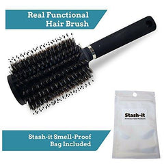Diversion Safe Hair Brush by Stash-it | BONUS Smell Proof Bag | Can Safe to Hide Money, Jewelry, or Valuables with Discreet Secret Removable Lid