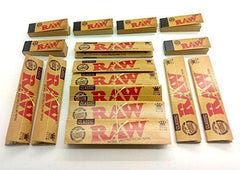 Raw Bundle Kit (16 Items), 10X King Size Slim Rolling Papers, 6X Raw Tips (300 Total)
