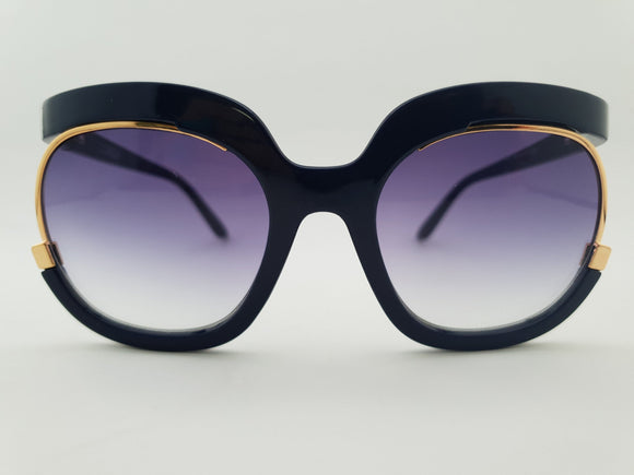 Happy To Sit - LOREN Navy Sunglasses