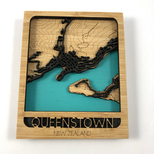 Queenstown Scenic Mini Map Wooden Wall Art