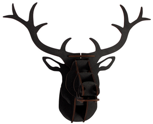 Flatpack Stag Large Black  Head
