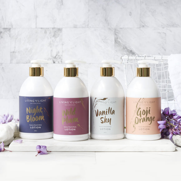 Living Light Body Lotion (4 Options Available)