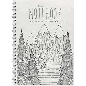Notebook Mountain Trees by Little Difference