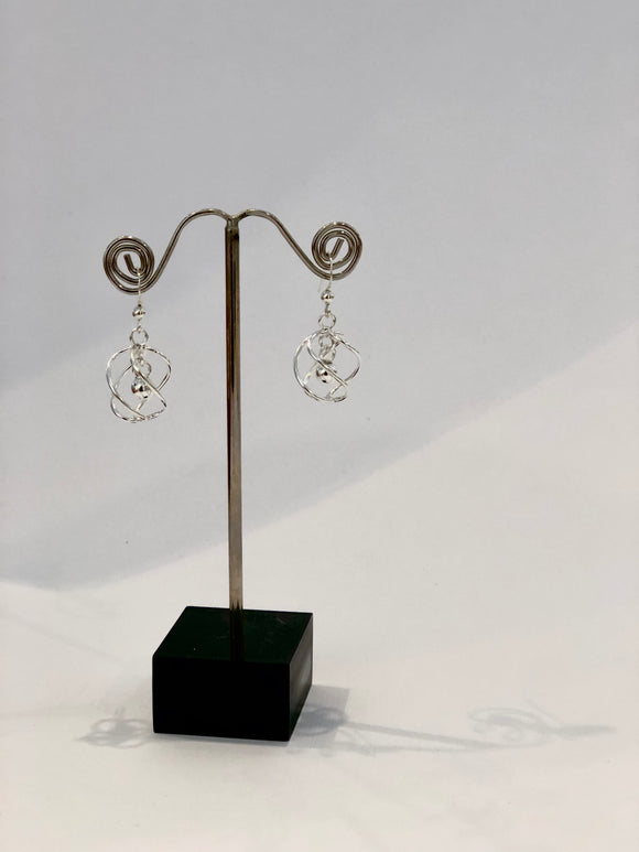 Sterling Silver Ball Hook Earrings