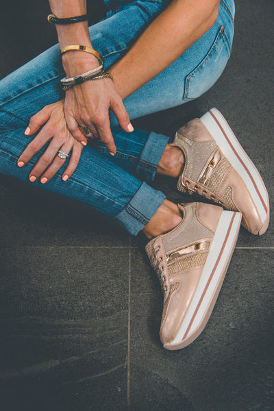 sneaker, platform, rose gold, ladies