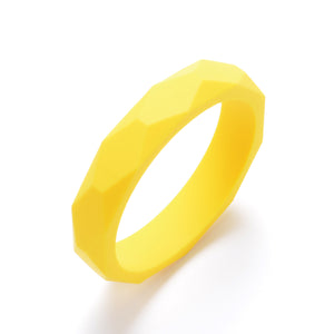 LUCY Silicone Bangle | Yellow