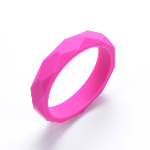 LUCY Silicone Bangle | Fuchsia