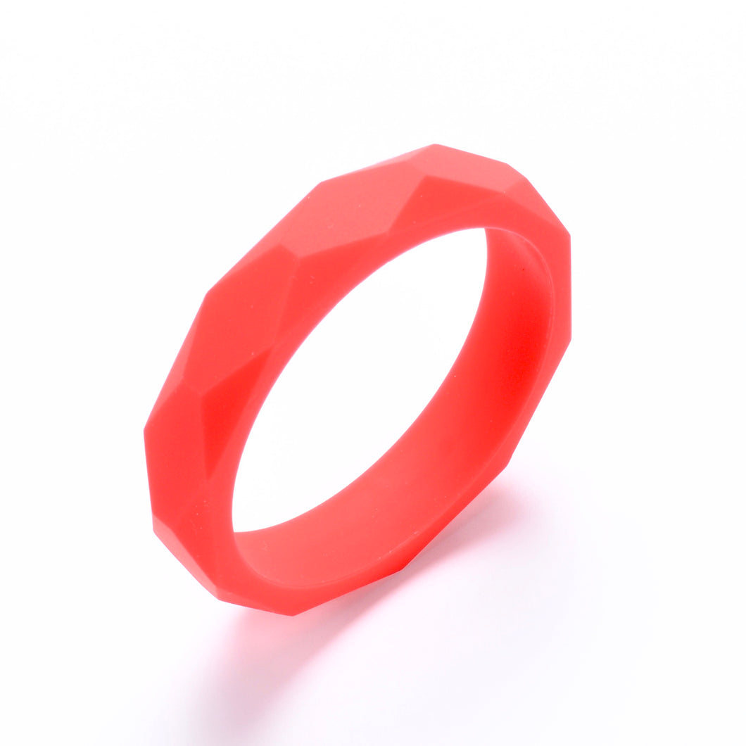 LUCY Silicone Bangle | Red
