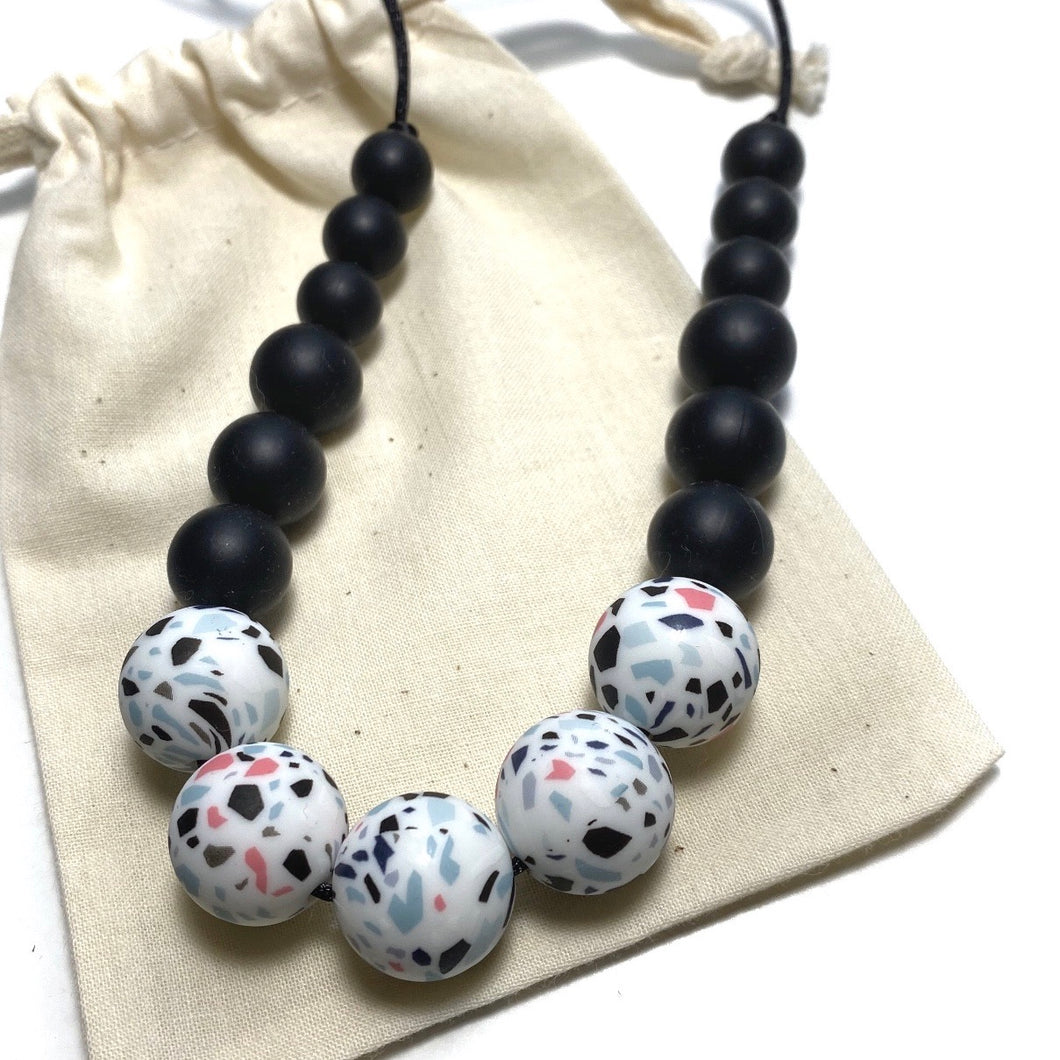 LORNA Teething Necklace | Terrazzo