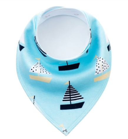 Dribble Bib | Sail Boats