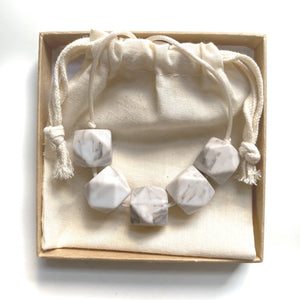 HARRIET Teething Necklace  | Marble II