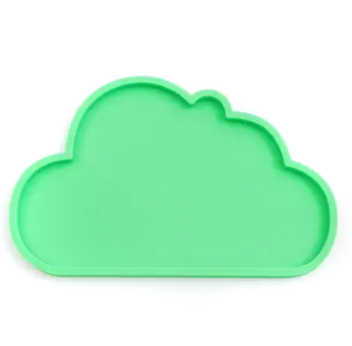 Silicone Cloud Plate | Green