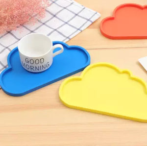 Silicone Cloud Plate | Pink