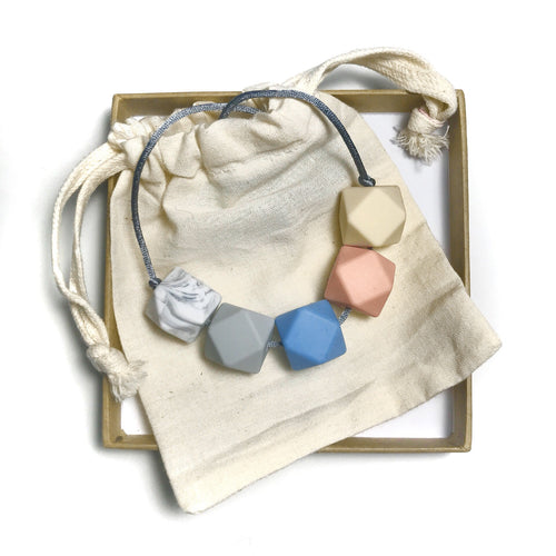 HARRIET Teething Necklace | Azure