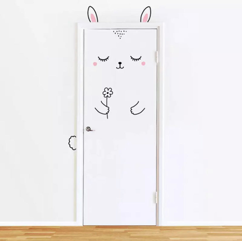 Door Decal | Bunny