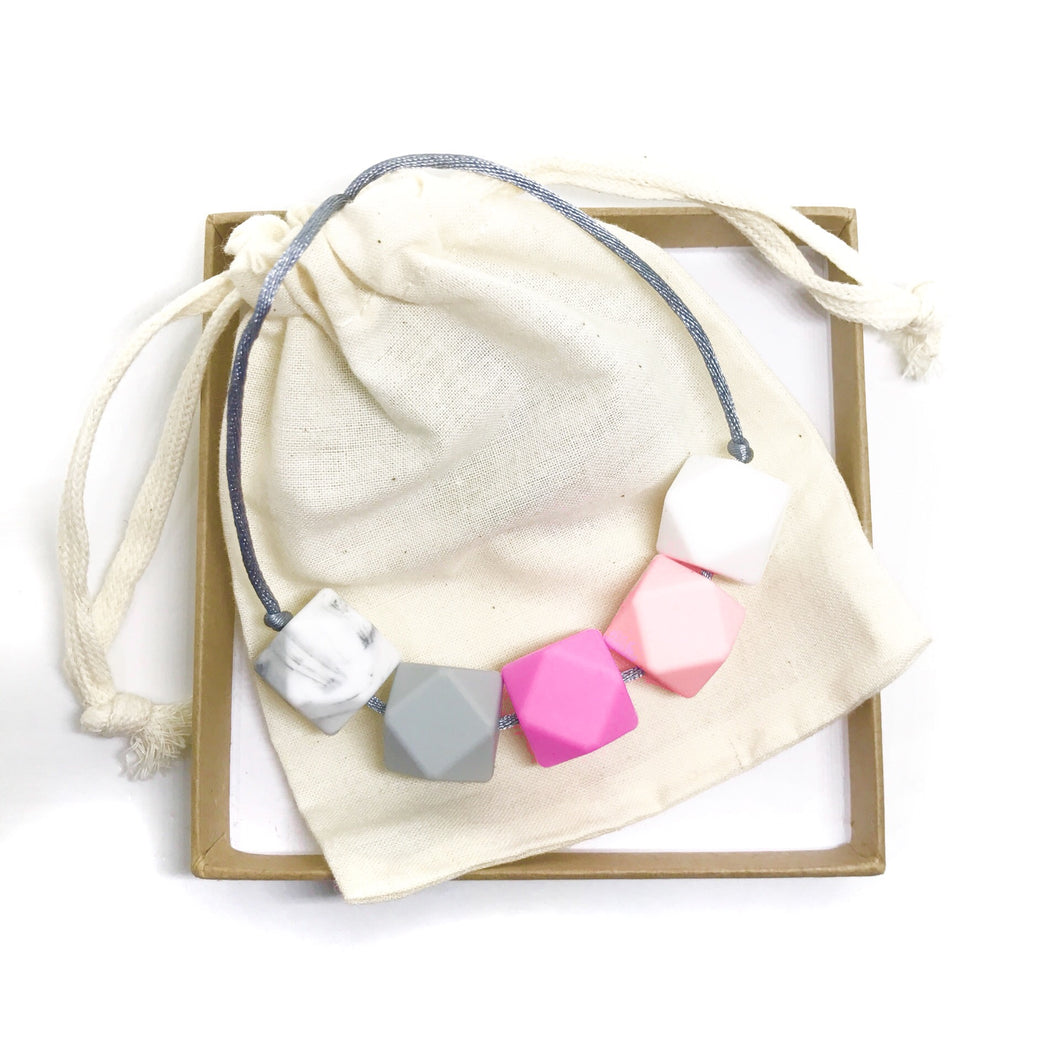 HARRIET Teething Necklace | Rose