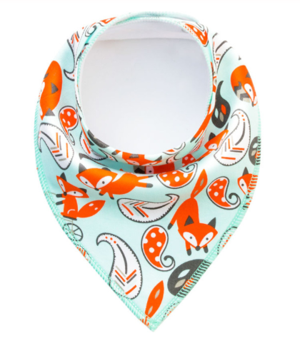Dribble Bib | Mint Foxes