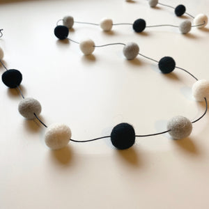 Felt Ball Garland | Monochrome