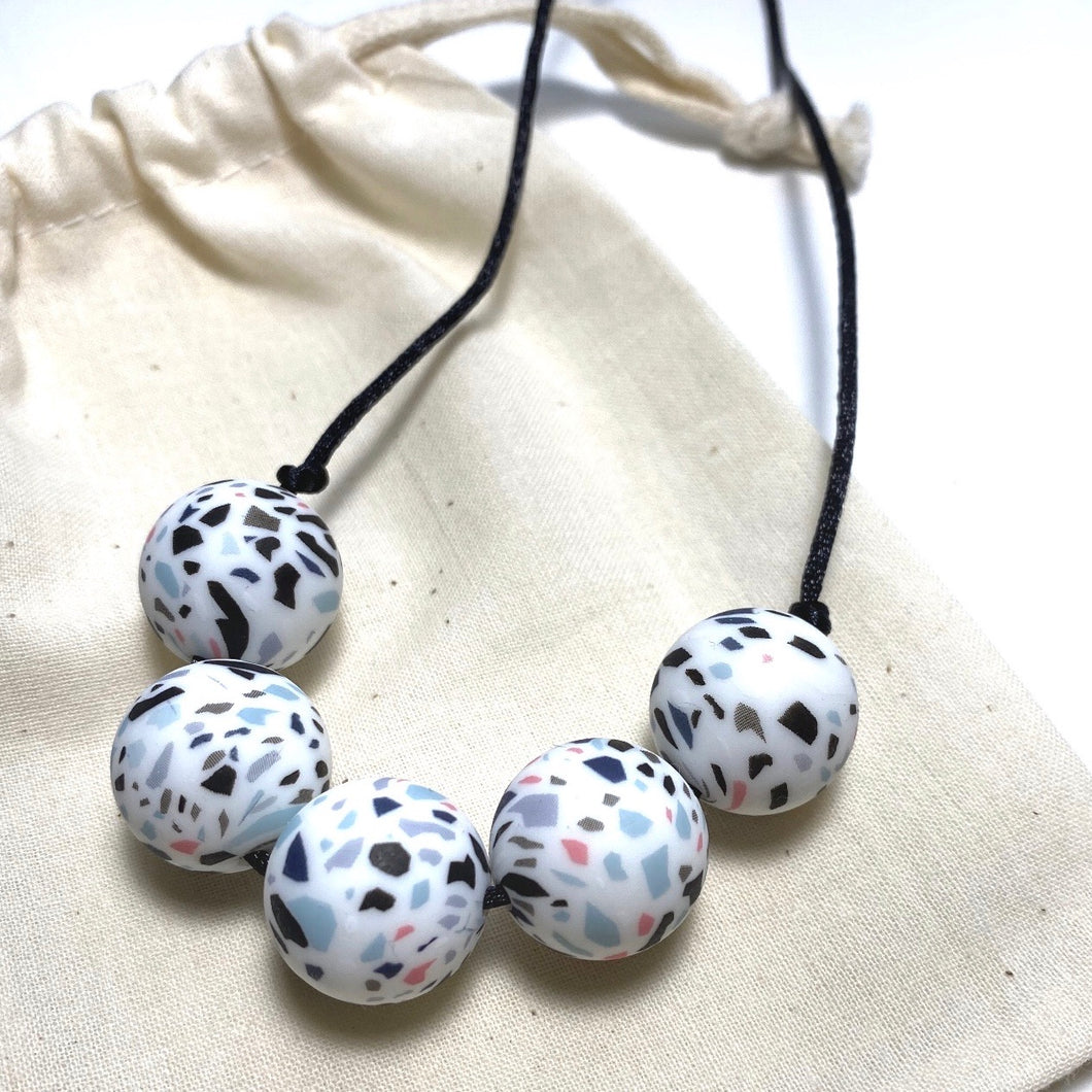 JESSICA Teething Necklace | Terrazzo