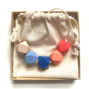 HARRIET Teething Necklace | Coral Sea