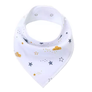 Dribble Bib | Clouds & Stars