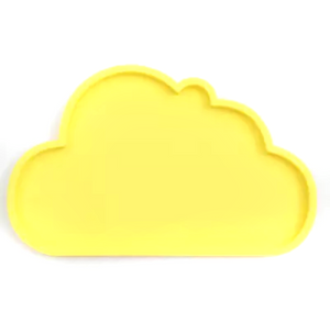Silicone Cloud Plate | Yellow