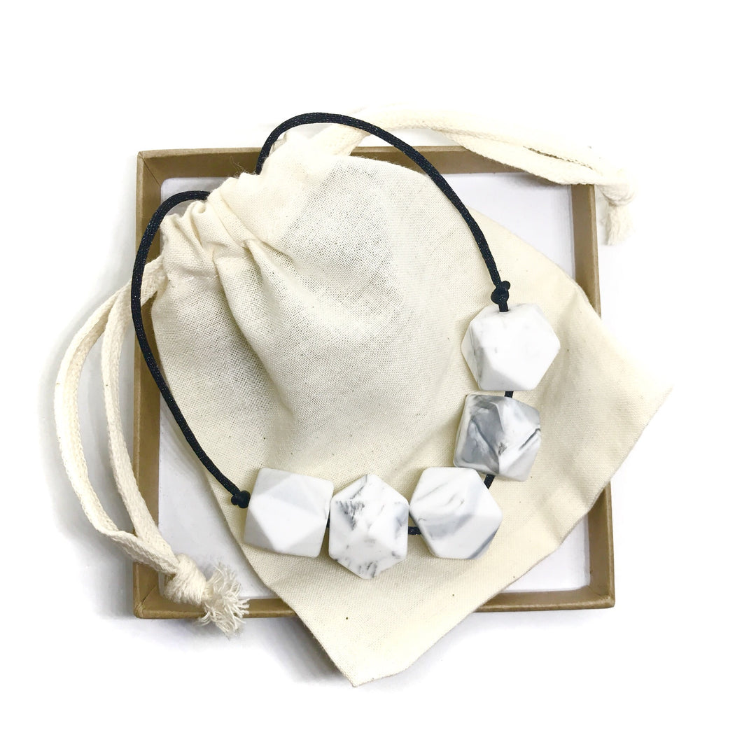 HARRIET Teething Necklace | Marble