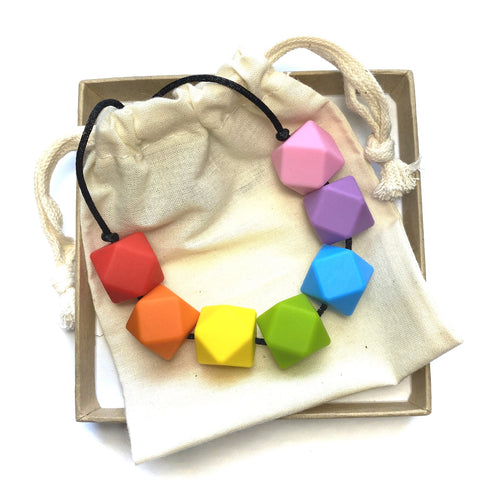 HARRIET Teething Necklace | Rainbow