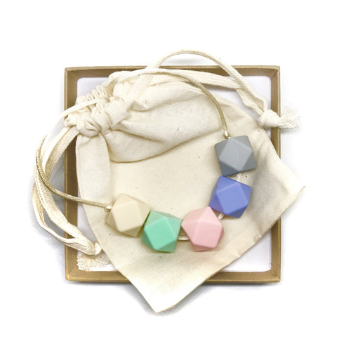 HARRIET Teething Necklace | Pastel