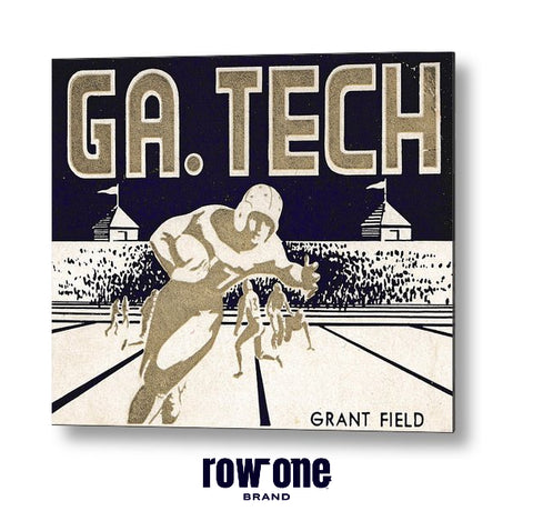 Georgia Tech Vintage Football Art