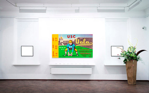 Father's Day Football Gift Ideas: 1952 USC vs. UCLA Ticket Art