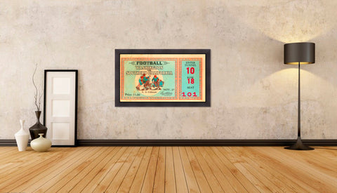 1930 USC vs. Washington Ticket Stub Wall Art Framed Print