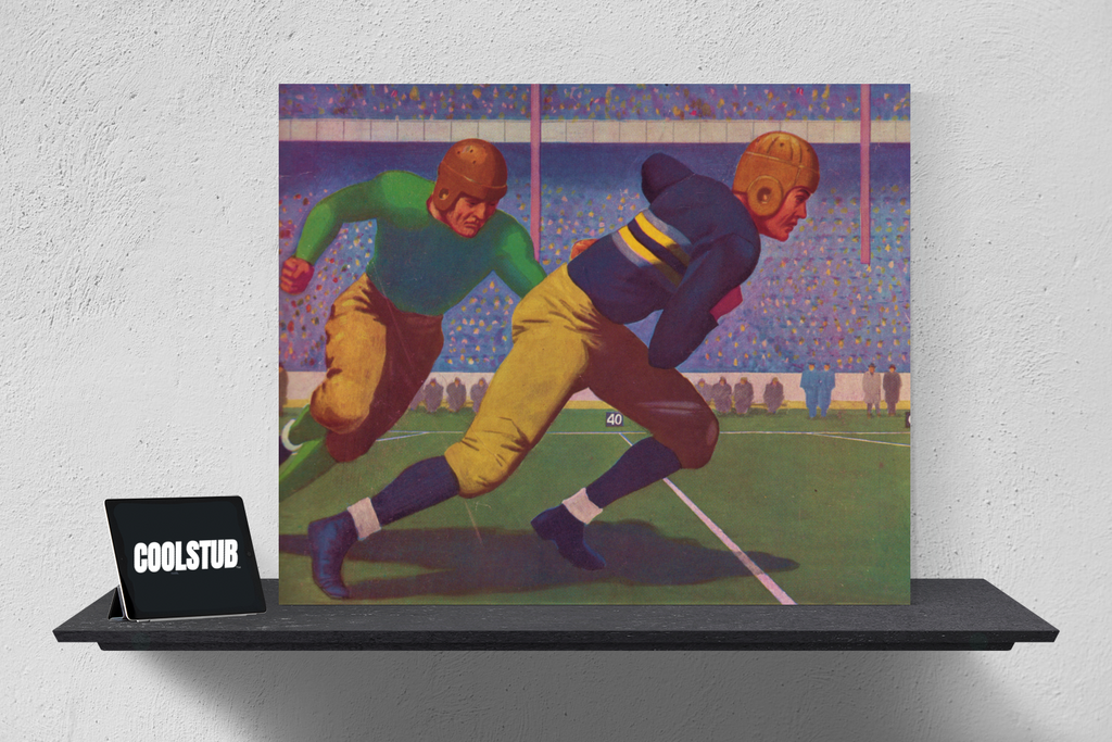 vintage football art, big ticket luxury holiday gifts for sports fans