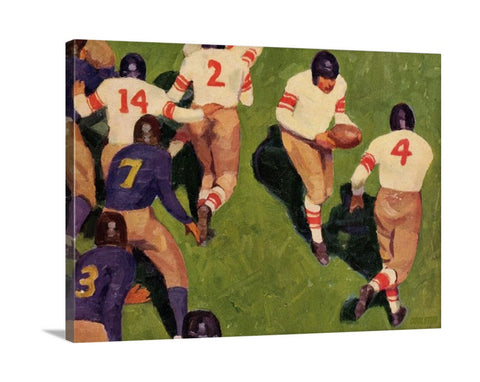 Vintage Sports Wall Art, Vintage Sports Canvas Wall Art