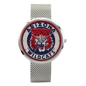 1950's Arizona Wildcat Watch With Casual Stainless Steel Band