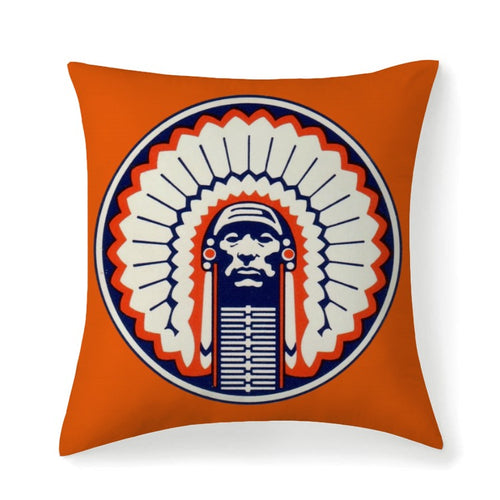 1984 Illinois Illini Multisized Premium Microfiber Fabric Throw Square Pillow High Elastic Polypropylene Cotton Insert