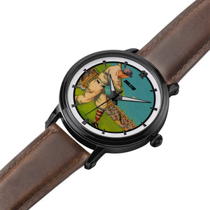 1930's At Bat Watch with Brown Leather