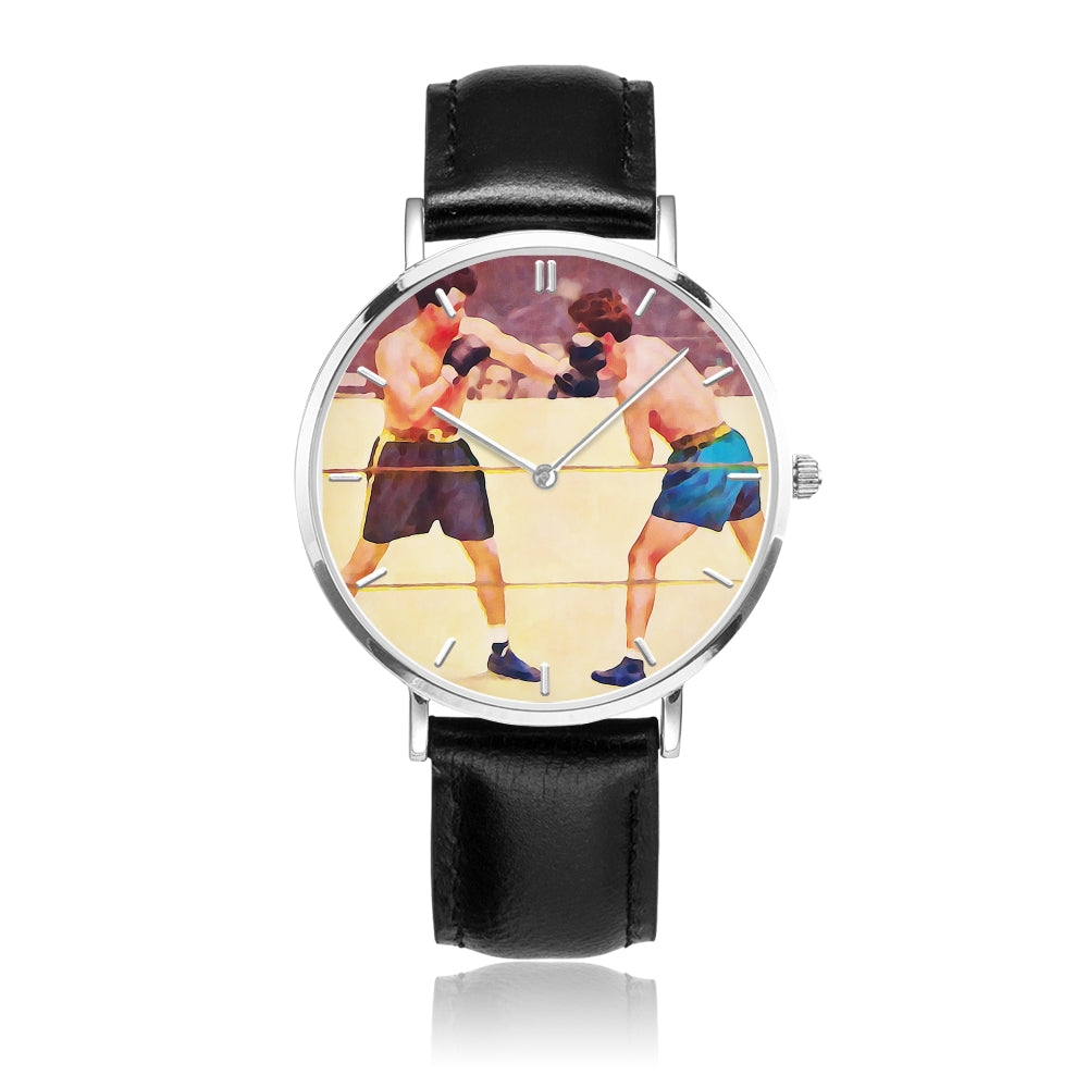 """Punch First"" Coolstub™ Vintage Boxing Art Watch"