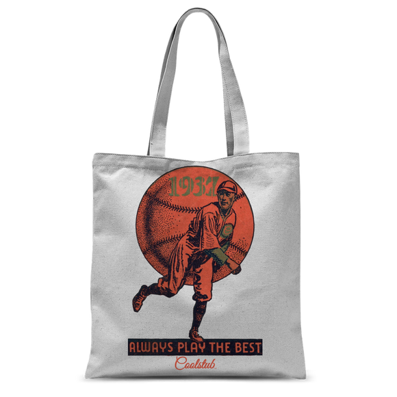 Coolstub™ 1937 Always Play The Best Vintage Classic Sublimation Tote Bag