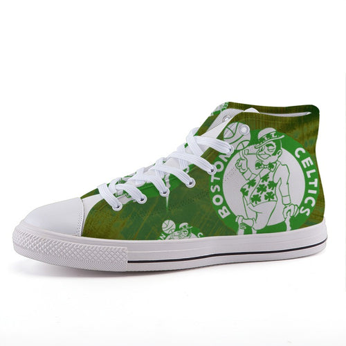 Vintage Boston Celtics High Top Fashion Canvas Shoes