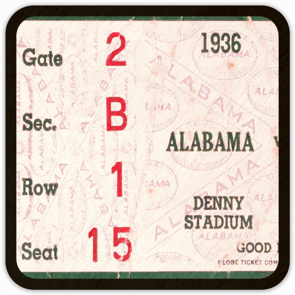 1936 Alabama (Wooden Coasters)