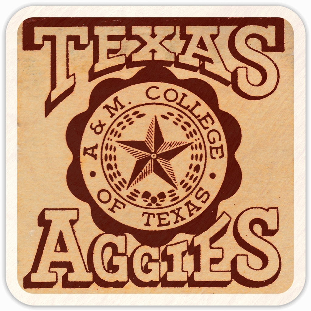 1950's Texas A&M (Wooden Coasters)