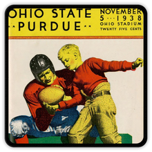 Load image into Gallery viewer, 1938 Ohio State vs. Purdue Coasters