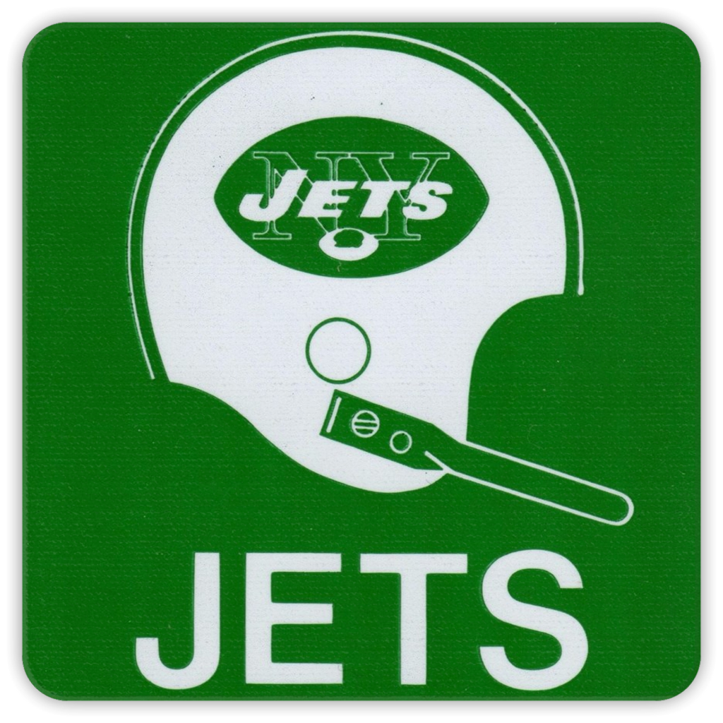 Vintage New York Jets Coasters Coolstub