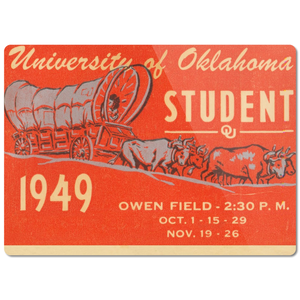 1949 Oklahoma Sooners Ticket Cutting Board